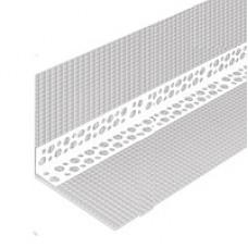 Уголок фасадный пластиковый  с сеткой 10Х10 см (3м)