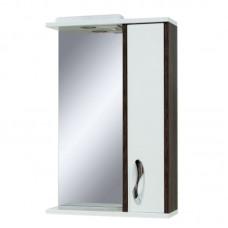 "Зеркало в ванную ""Сансервис"" Sirius 55 со шкафчиком винтаж-темный"