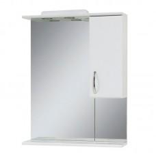 "Зеркало в ванную ""Сансервис"" Стандарт Z-56 со шкафчиком (цвет голубой)"