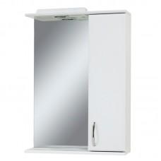 "Зеркало в ванную ""Сансервис"" Стандарт Z-60 со шкафчиком (цвет белый)"