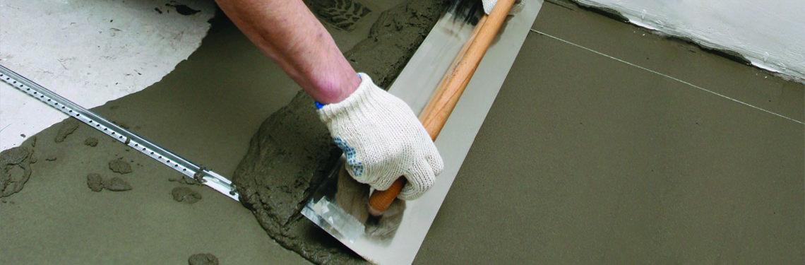 Выравнивание пола своими руками цементным раствором фундамент под керамзитобетон блоки